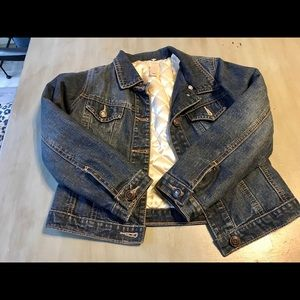 Girls Old Navy Jean Jacket with Quilting Size S